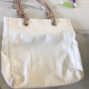 Large white Michael kors bag